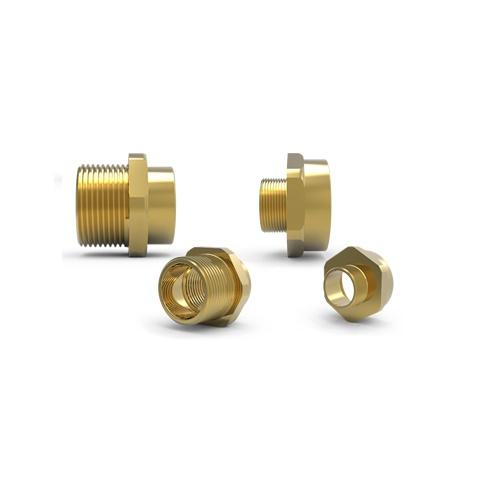 476 EXD BRASS NICKEL PLATED ADAPTOR M25(M) X M32(F) product photo Front View L