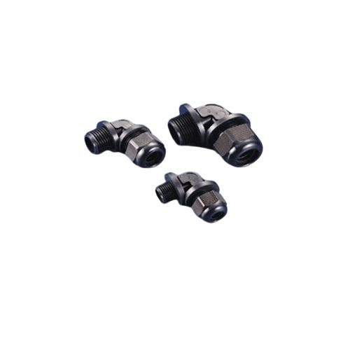 0609 RIGHT ANGLE CABLE GLAND 21.2MM BLACK product photo Front View L