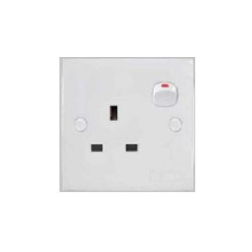 2K SERIES SWITCHED SOCKET OUTLET 1 GANG 13A 250V product photo Front View L