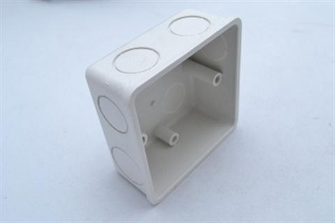 "CONCEALED BOX 3"" X 6"" WHITE product photo Back View L"