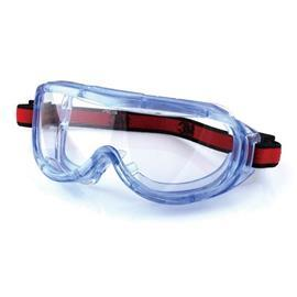 1623AF SAFETY GOGGLES ANTI-FOG CLEAR LENS BLUE FRAME product photo