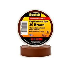 35 SCOTCH VINYL ELECTRICAL TAPE 19MM X 20M BROWN product photo