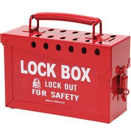 PORTABLE METAL LOCK BOX RED product photo