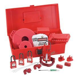 MAINTENANCE LOCKOUT KIT WITH COMPONENTS RED product photo
