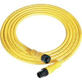 PATCHCORD DC MICRO (M12) FEMALE R-ANG 4-PIN PVC CABLE YELLOW product photo
