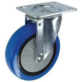 SWIVEL PLATE 75MM RUBBER TYPE BLUE product photo
