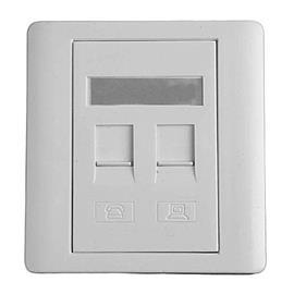 NETWORK FACE PLATE 2G (FLUSH WITHOUT MODULAR JACK) product photo