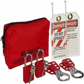 PERSONAL PADLOCK POUCH W/SAFETY PADLOCKS product photo