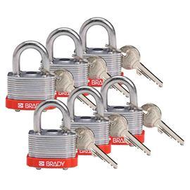 KEY RETAINING STEEL PADLOCK RED KD product photo