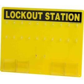 DEPARTMENT LOCKOUT STATION BLK/YEL product photo