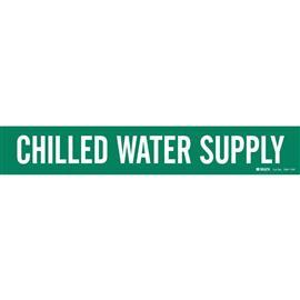 "B946 CHILLED WATER SUPPLY PIPE MARKER 8"" DIA WT/GN product photo"