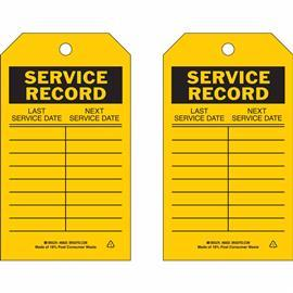"B851 SERVICE RECORD 7""X4"" BK/YEL product photo"