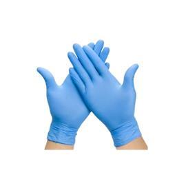 POWDER FREE NITRILE EXAMINATION GLOVE, BLUE SIZE M (100PCS/BOX) product photo