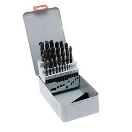 HSS DRILL SET 1.0-13.0MMX 0.5MM METAL CASE product photo