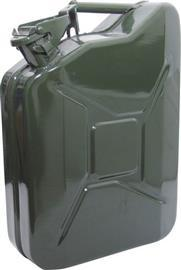 HEAVY DUTY STEEL JERRY CAN 10LTR GREEN product photo