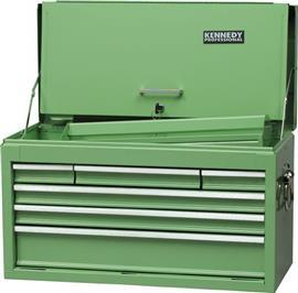 GREEN 6-DRAWER PROFESSIONAL TOOL CHEST product photo