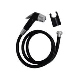 HAND SPRAY CTRL BIDET W/1200MM BLK FLEX HOSE & WALL BRACKET product photo