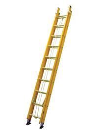 FIBREGLASS DOUBLE EXTENSION LADDER 12 STEPS product photo