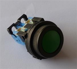 FLUSH ROUND HEAD PUSHBUTTON 30MM 1NO GREEN product photo