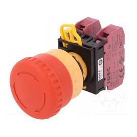 YW SERIES EMERGENCY STOP PUSHBUTTON 2NC RED product photo