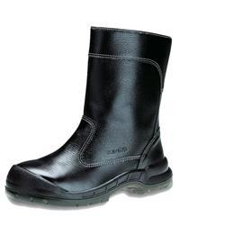 COMFORT SERIES GRAIN LEATHER PULL-UP BOOT HIGH CUT BLACK SIZE 5 product photo