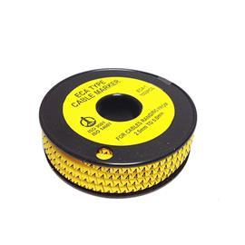 CABLE MARKER PLAIN CUT 3.6-7.4MM YELLOW NO:9 product photo