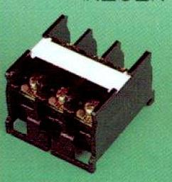 RAIL MOUNT TERMINAL BLOCK 3P 50A product photo
