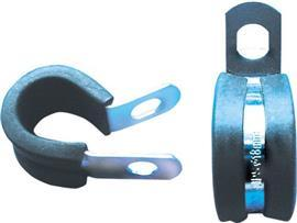 ZINC PLATED P-CLIPS RUBBER LINED 35MM product photo