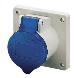PANEL MOUNTED SOCKET 16A 3P 230V IP44 BLUE product photo