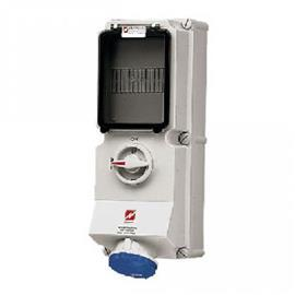 WALL MOUNTED RECEPTACLE W/ INTERLOCK 16A 3P 230V IP44 product photo