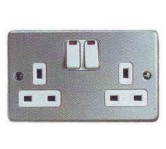 METALCLAD PLUS SHUTTERED SWITCHED SOCKET OUTLET WITH NEON 2G product photo