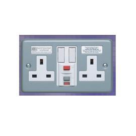 TRIP PASSIVE RCD PROTECTED SWITCH SOCKET OUTLET 2 G 13A 30MA product photo
