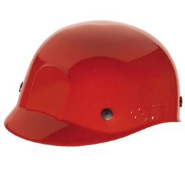 BUMP CAP, RED, WITH PLASTIC SUSPENSION product photo