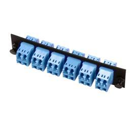 FIBER OPTIC ADAPTER PLATE LC DUPLEX 24-FIBER BLUE product photo