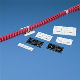 CABLE TIE MOUNT ADHESIVE 25.4X25.4MM WHITE (X 500PCS) product photo