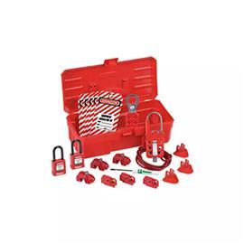 CONTRACTOR LOCKOUT KIT WITH COMPONENTS RED product photo