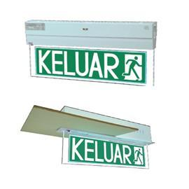 LED SLIMLINE RECESSED EMERGENCY KELUAR SIGN DOUBLE SIDED product photo
