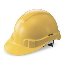 ADVANTAGE I SLIDE-LOCK PLASTIC HARNESS SAFETY HELMET YELLOW product photo