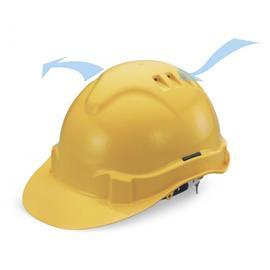 ADVANTAGE II SLIDE-LOCK PLASTIC HARNESS SAFETY HELMET YELLOW product photo