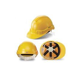 WEBBING HARNESS SAFETY HELMET YELLOW product photo