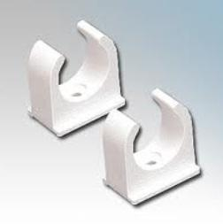 SPRING CLIP SADDLE 25MM (1'') WHITE product photo
