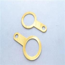 BRASS EARTH TAG WITHOUT SCREW 32MM product photo