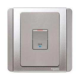 NEO C-METRO SWITCH WITH BLUE LED DP 32A GREY SILVER product photo
