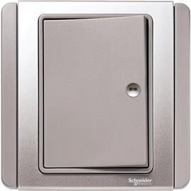 NEO C-METRO HORIZONTAL PRESS ON/OFF SWITCH 1G 1W GREY SILVER product photo