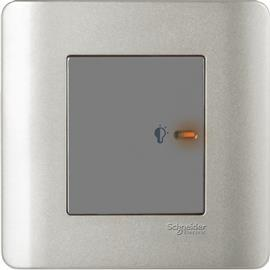 ZENCELO UNIVERSAL DIMMER WITH LED 1G 350VA SILVER SATIN product photo