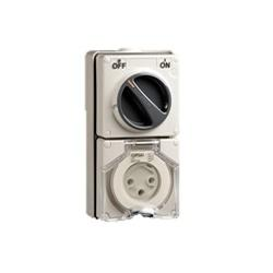 S56 SWITCHED SOCKET OUTLET 500V 20A 4R IP66 GREY product photo