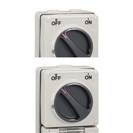S56 SWITCHED SOCKET OUTLET 500V 50A 5R IP66 GREY product photo