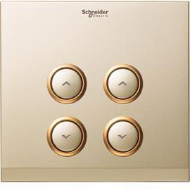 "ULTI ""EZINSTALL"" DIMMER COVER PLATE CHAMPAGNE GOLD 2G product photo"