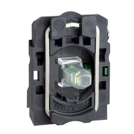 HARMONY XB5 GREEN LIGHT BLOCK LED 230V 1NO product photo