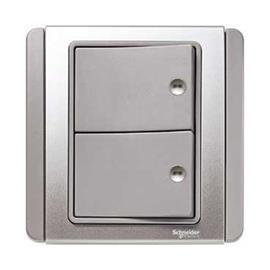 NEO C-METRO HORIZONTAL PRESS ON/OFF SWITCH 2G 1W GREY SILVER product photo